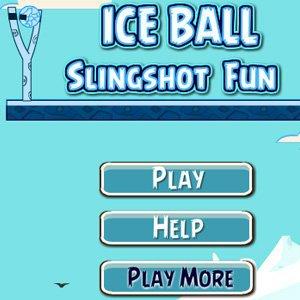 Ice Ball Slingshot Fun