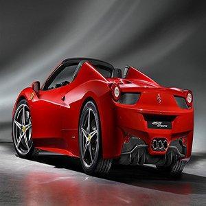 Red Ferrari 458 Spider