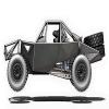 Silver Off Road Racing Car