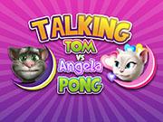 Talking Tom vs Angela Pong