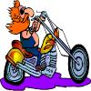 Cartoon Motorcycle Road Driving