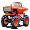Orange Monster Truck