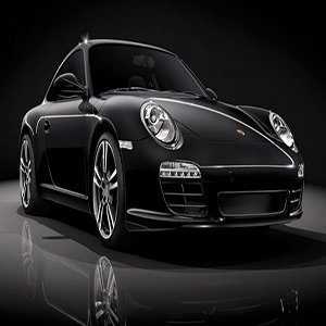 Porsche Black Beauty Car