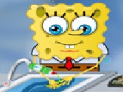 Spongebob Washing Dishes