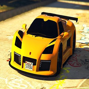 Yellow Ferrari GTA 5 Car